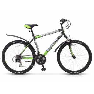 Велосипед Stels Navigator 600 V 26 (2016) Серый/Серебристый/Зеленый (19')