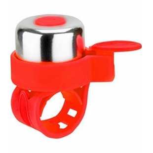 Звонок на беговел-велосипед-самокат Jet-Cat Red (на резинке)