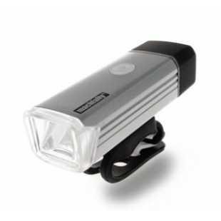 Велосипедный фонарь передний EOS 100 180lm USB перезаряжаемые серебрянный