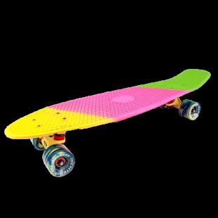 Круизер пластиковый TT Tricolor 27 (2018) Желтый/розовый/зеленый
