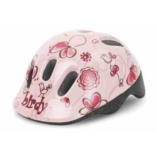 Детский велосипедный шлем Polisport Baby Birdy Cream/pink (44-48 см)
