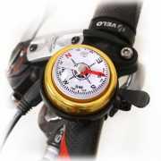 Звонок велосипедный с компасом