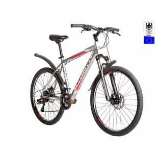 Велосипед Hartman Dragster Pro Disc 26 (2019) серый-красный-белый (19