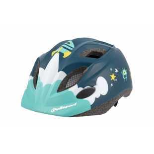 Детский велосипедный шлем Polisport P3 Spaceship blue/green (48-52 см)