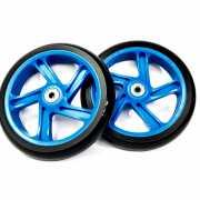 Набор колес и подшипников ABEC 7 для самоката 180мм синий...