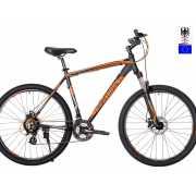Велосипед Hartman Hurrikan Pro Disc 27,5 (2019) черно-оранже...